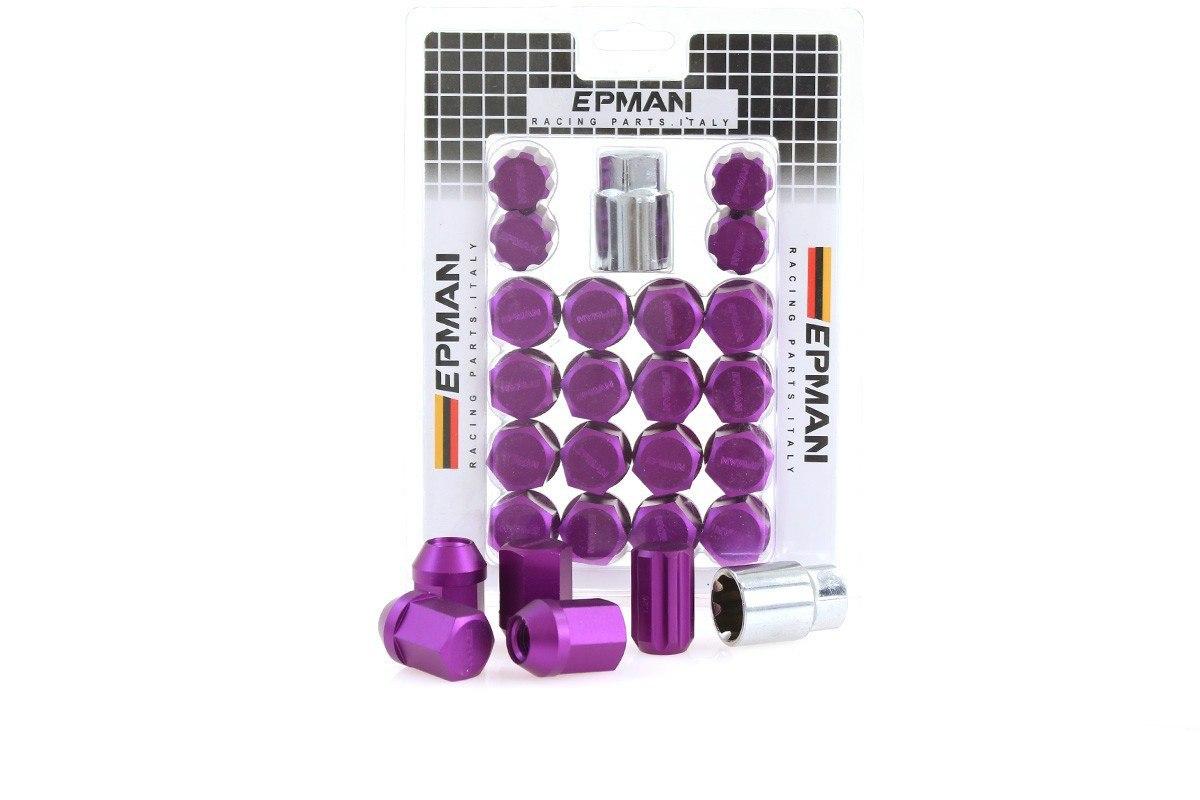 Nakrętki EPMAN RS M12x1.25 Purple Zabezpieczające - GRUBYGARAGE - Sklep Tuningowy